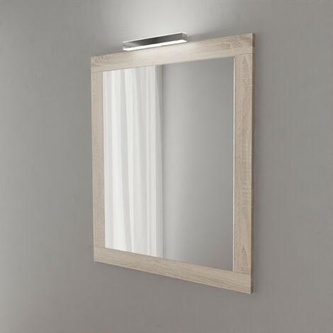 Miroir MIRALT décor cambrian oak avec applique LED - 80x109 cm