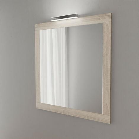 Miroir MIRALT décor cambrian oak avec applique LED - 90x109 cm