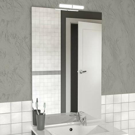 Miroir MIRCOLINE avec applique lumineuse LED - 80x105cm