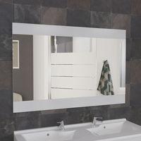 Miroir MIROSA blanc sans appliques - 140x80 cm