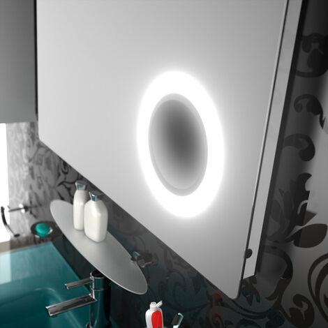 Miroir Moscow 1000 x 600 mm - lumière LED - zone grossissant - sensor - Salgar 23208