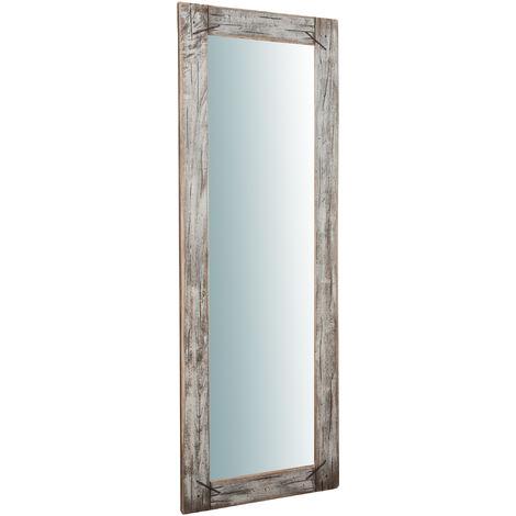 Miroir Mural à accrocher en bois massif RUSTICO GRANDE