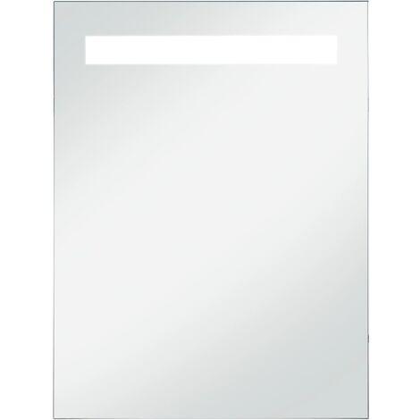 Miroir mural à LED pour salle de bains 60 x 80 cm