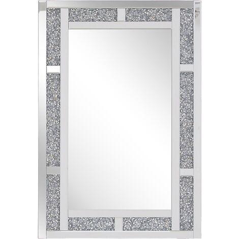 Miroir mural argenté 60 x 90 cm AVRILLE