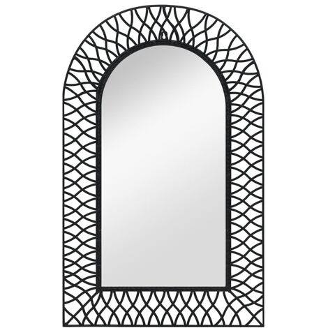 Miroir mural Arqué 50 x 80 cm Noir