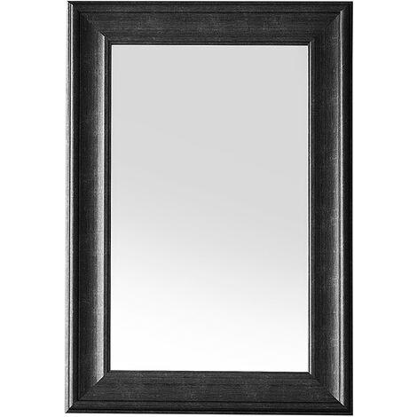 Miroir mural classique avec un cadre noir