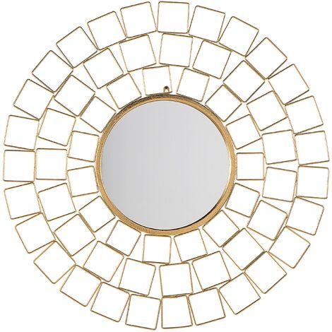 Miroir mural doré ø90 cm LABRIT