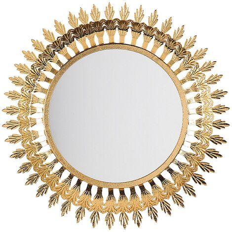 Miroir mural doré VOREY