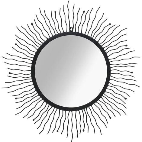Miroir mural eclat de soleil 80 cm Noir