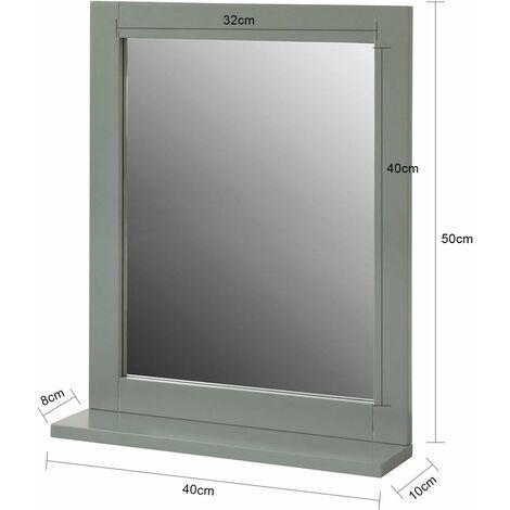 Miroir Mural Meuble Salle de Bain avec 1 étage Plateau,SoBuy® FRG129-SG