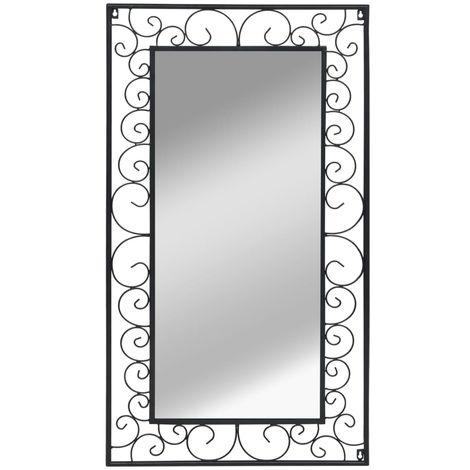 Miroir mural Rectangulaire 60 x 110 cm Noir