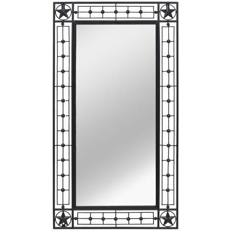 Miroir mural Rectangulaire 60 x 110 cm Noir - noir
