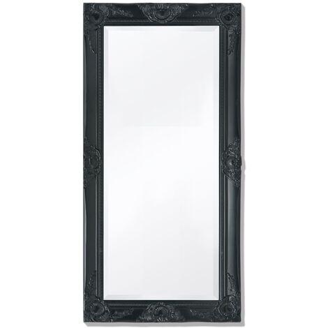 Miroir mural Style baroque 100 x 50 cm Noir