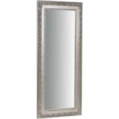 Miroir mural vertical/horizontal L35xPR2xH82 cm finition argent antique