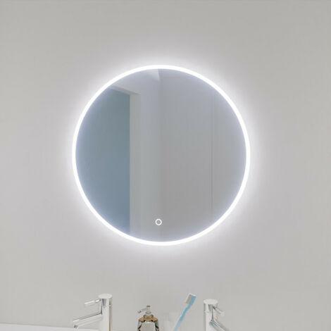 Miroir ONDE Ø 60cm - éclairage LED, système anti-buée et interrupteur sensitif