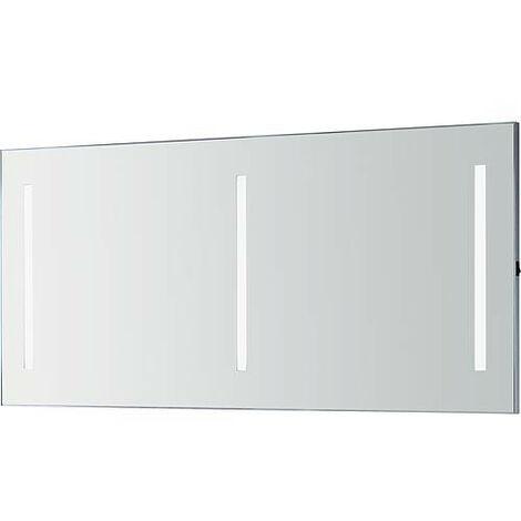 Miroir Orkla avec rampes LED 3 rampes de 9,6 W 1400x662 mm