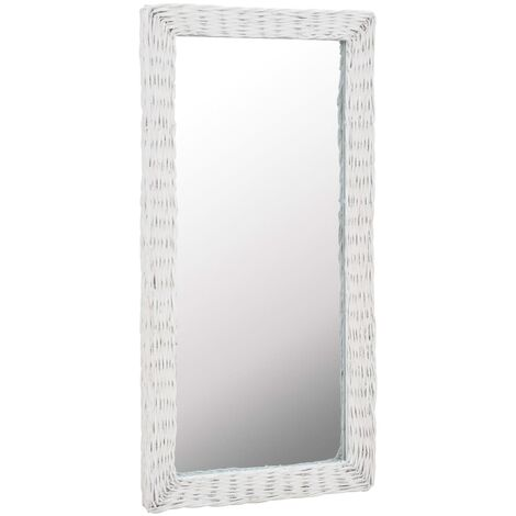 Miroir Osier Blanc 50 x 100 cm