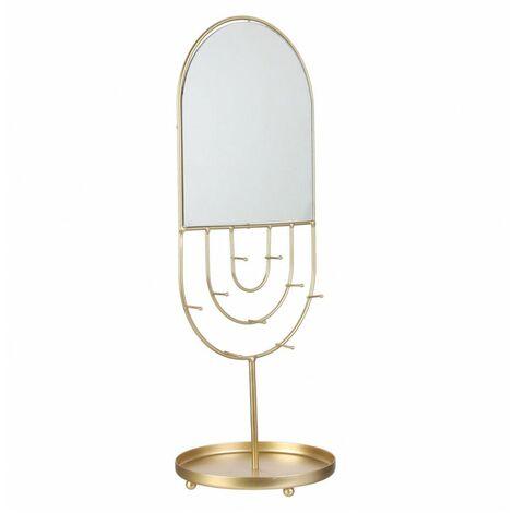 Miroir porte bijoux ovale - Livraison gratuite