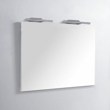 Miroir Rectangle de salle de bain - Lampes LED - 120x80 cm - Classic City 120