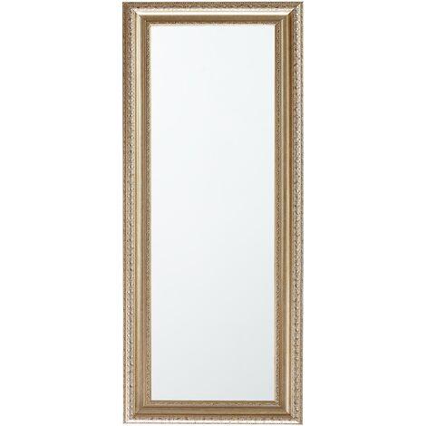 Miroir rectangulaire au style baroque doré