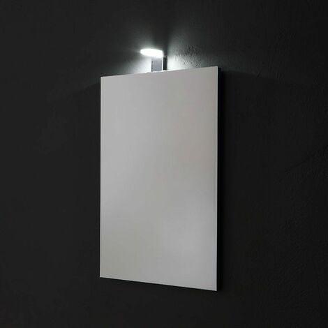 MIROIR RECTANGULAIRE CM 50X70 RÉVERSIBLE COMPLET DE LAMPE À LED