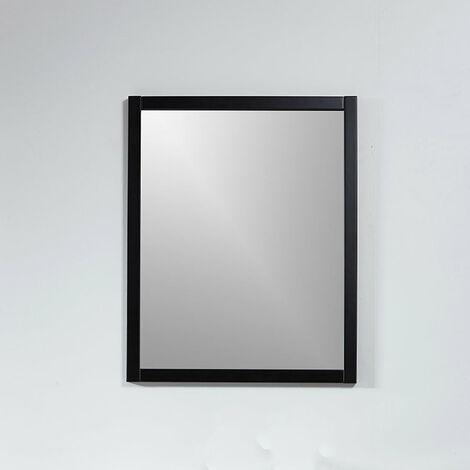 Miroir rectangulaire NEO 56x70cm avec cadre noir mat - Noir