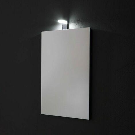 MIROIR RECTANGULAIRE RÉVERSIBLE 50X70 CM COMPLET AVEC LAMPE LED