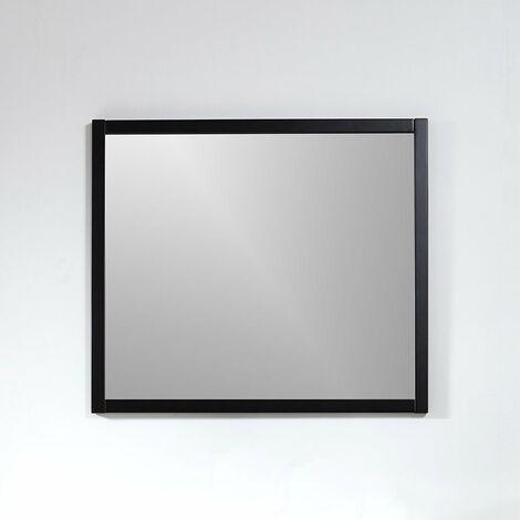 Miroir rectangulaire SMART 80x70cm avec cadre noir mat - Noir