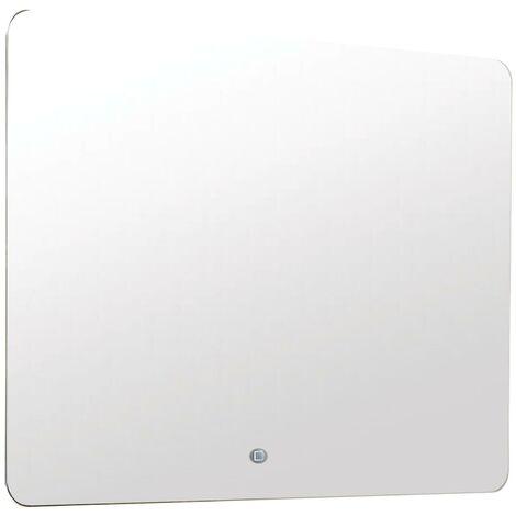 Miroir rétro-éclairant LOS ANGELES - Argent - 80x60cm - Verre - Cadre aluminium