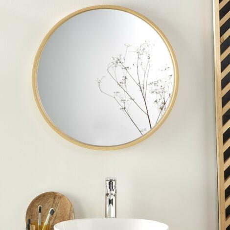 """main image of """"Miroir Rond Design en Bois D60 cm VALI - Bois Clair"""""""