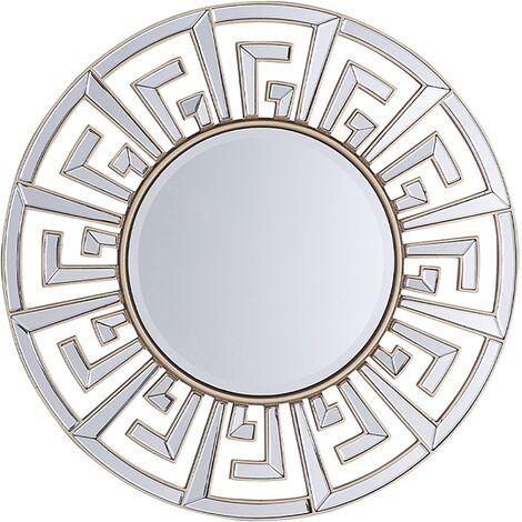 Miroir rond doré FLERS