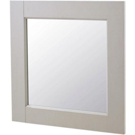 Miroir ROSEBURY carré 60x60 cm gris - Gris