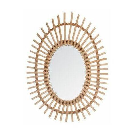 Miroir rotin ovale - Atmosphera
