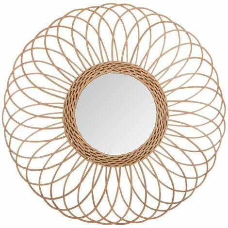 Miroir rotin rosace D58