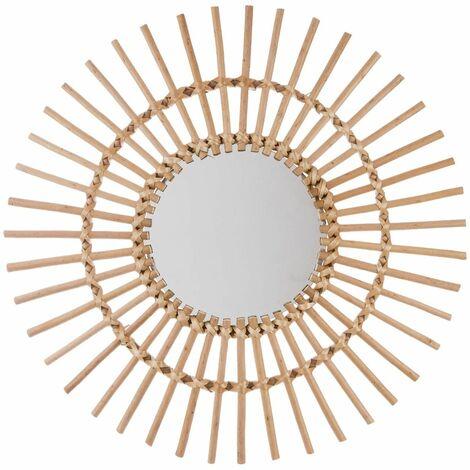 Miroir rotin soleil - Atmosphera