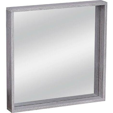 """main image of """"Miroir salle bain bois gris Parisienne - Gris"""""""