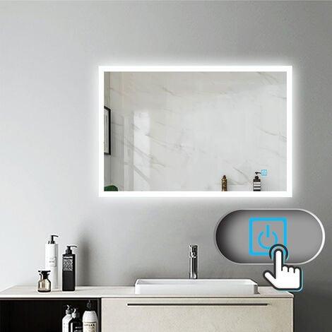 """main image of """"Miroir salle de bain miroir anti-buée Mural Lumière Illumination"""""""