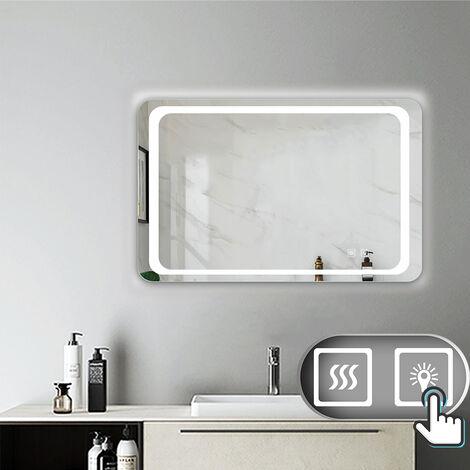 Miroir salle de bain anti-buée avec éclairage LED