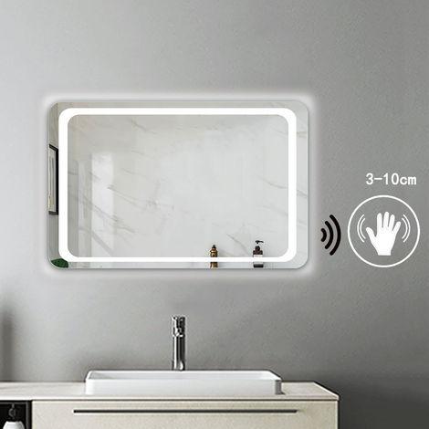 Miroir salle de bain anti-buée l\'interrupteur � d�tecteur de mouvement