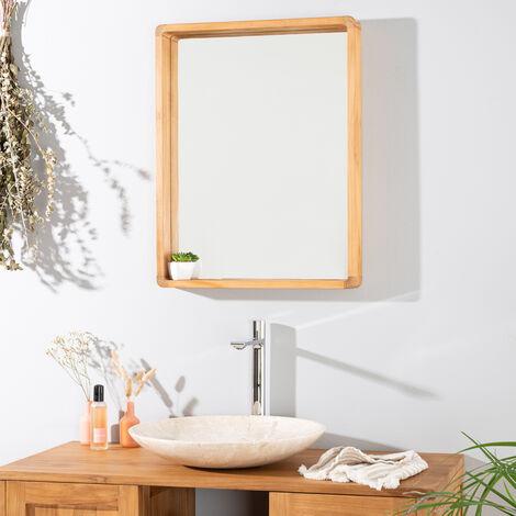 Miroir Salle De Bain En Teck Samba 50 X 65 Cm