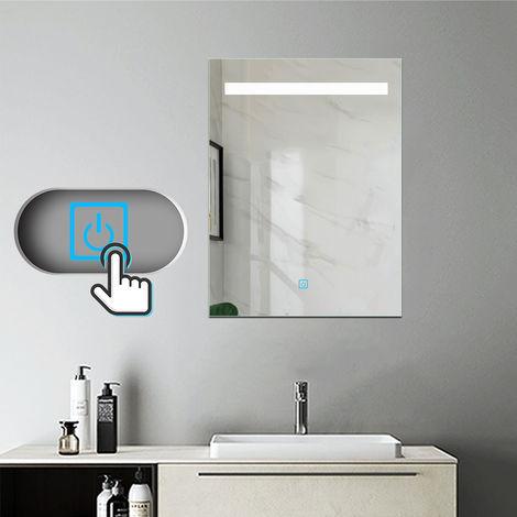 Miroir salle de bain LED anti-buée Mural Lumière Illumination avec éclairage LED