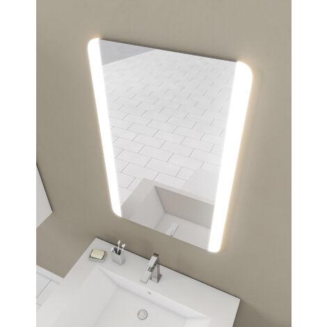 Miroir salle de bain LED auto-éclairant BORDER LINES 75x50