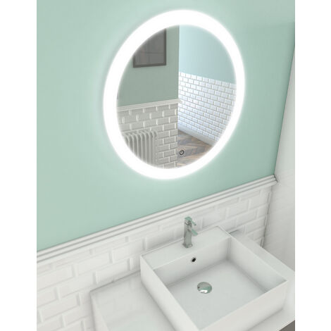 Miroir salle de bain LED auto-éclairant CIRCLE