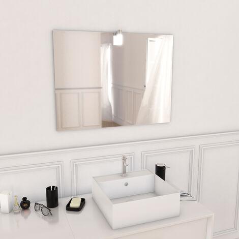Miroir salle de bain LED auto-éclairant DOT 80x60cm