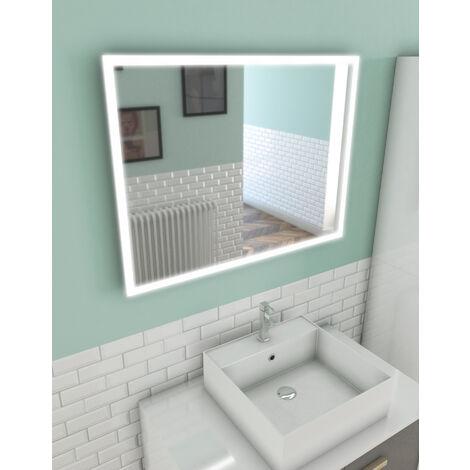 Miroir salle de bain LED auto-éclairant FRAME 60x80cm