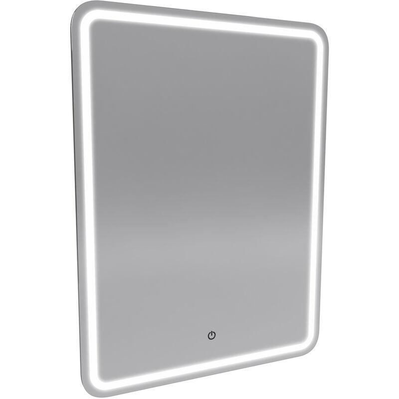 Miroir salle de bain LED auto-/éclairant WINDOW 40x60cm