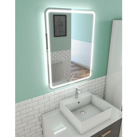 Miroir Salle De Bain Led Auto Eclairant Window 40x60cm Mir010