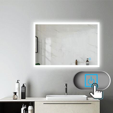 Miroir salle de bain miroir anti-buée Mural Lumière Illumination