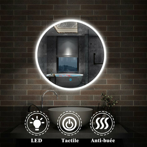 Miroir salle de bain rond anti-buée