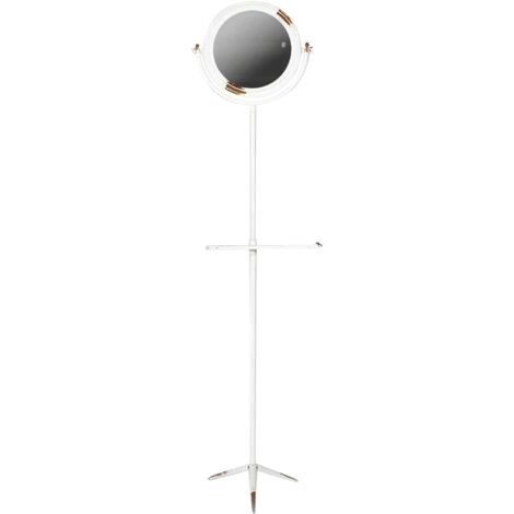 Miroir style industriel blanc - Bois